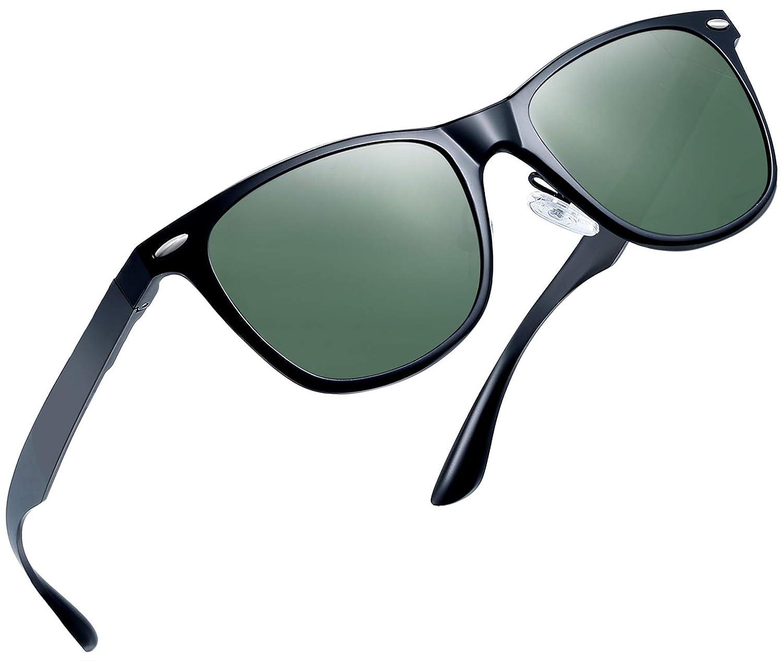 2ee7a1fa1713 Amazon.com  Joopin Unisex Polarized Sunglasses Classic Men Retro UV400  Brand Designer Sun glasses (Al Mg Alloy G15