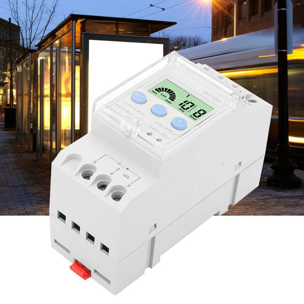 ZYT15-GK Digital Power Intelligente Schienenwerbung Lichtinduktionszeit Photo Switch Controller 90-250V f/ür Reiskocher Zeitrelais Lichtschalter Booster Warmwasserbereiter usw Lampen