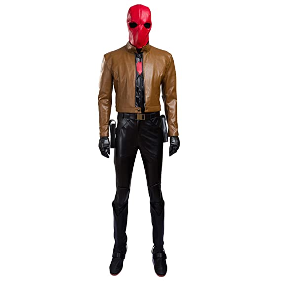 QWEASZER Batman Red Hood Robin Cosplay Disfraz Adulto ...