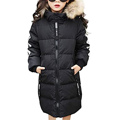 64b87fc482d Hot 2018 Girls Winter New Cotton Jackets Girls Fashion Fur Collar Letters  Coats Girl Thickening Hooded Warm Jacket Kids Clothes