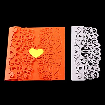 Amazon.com: Yezike Cutting Dies Stencil Flower Lace Card Making ...