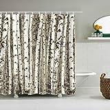 Cugap Mildew Resistant Anti-Bacterial Halloween Bat Shower Curtain Bathroom Waterproof Polyester Fabric With 12 Hooks