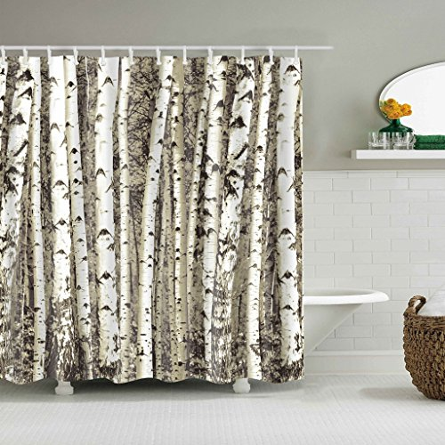 Cugap Mildew Resistant Anti-Bacterial Halloween Bat Shower Curtain Bathroom Waterproof Polyester Fabric With 12 Hooks by Cugap