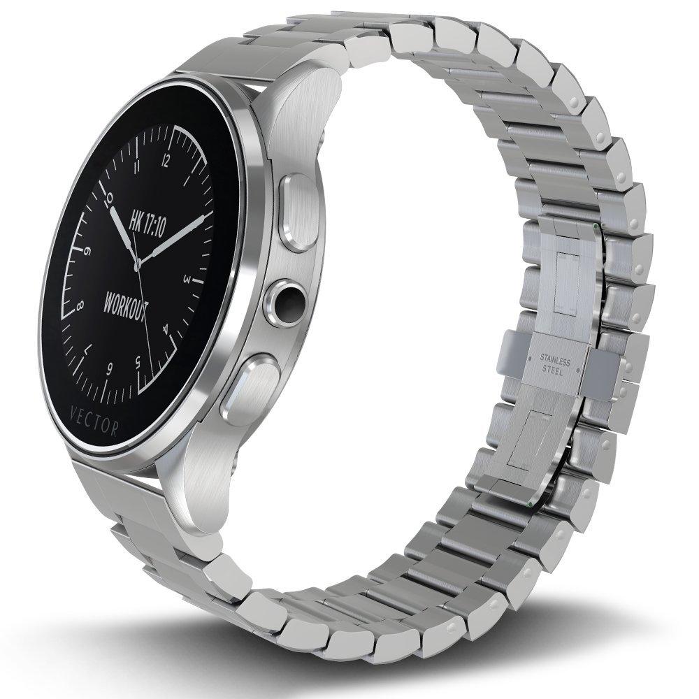 Vector L1-10-007 Luna - Smartwatch de acero inoxidable, 46 ...