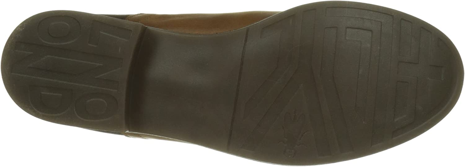 Fly London Alls076fly, Bottes Chelsea Femme Marron Camel Chocolate