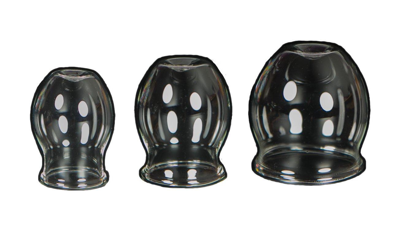3médical Feu de ventouses en verre Lot de 30–40–50mm pour professionnels, médical Feu M015soufflé handgeformt Lauschaer Verre l'original