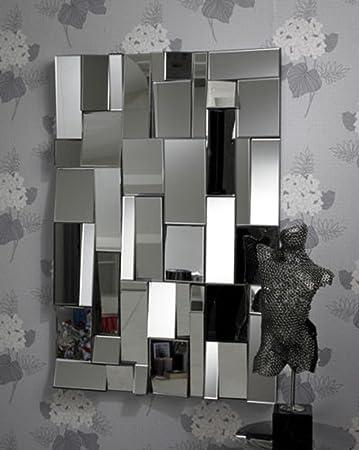Außergewöhnliche Große Trendigem Rechteck Spiegel
