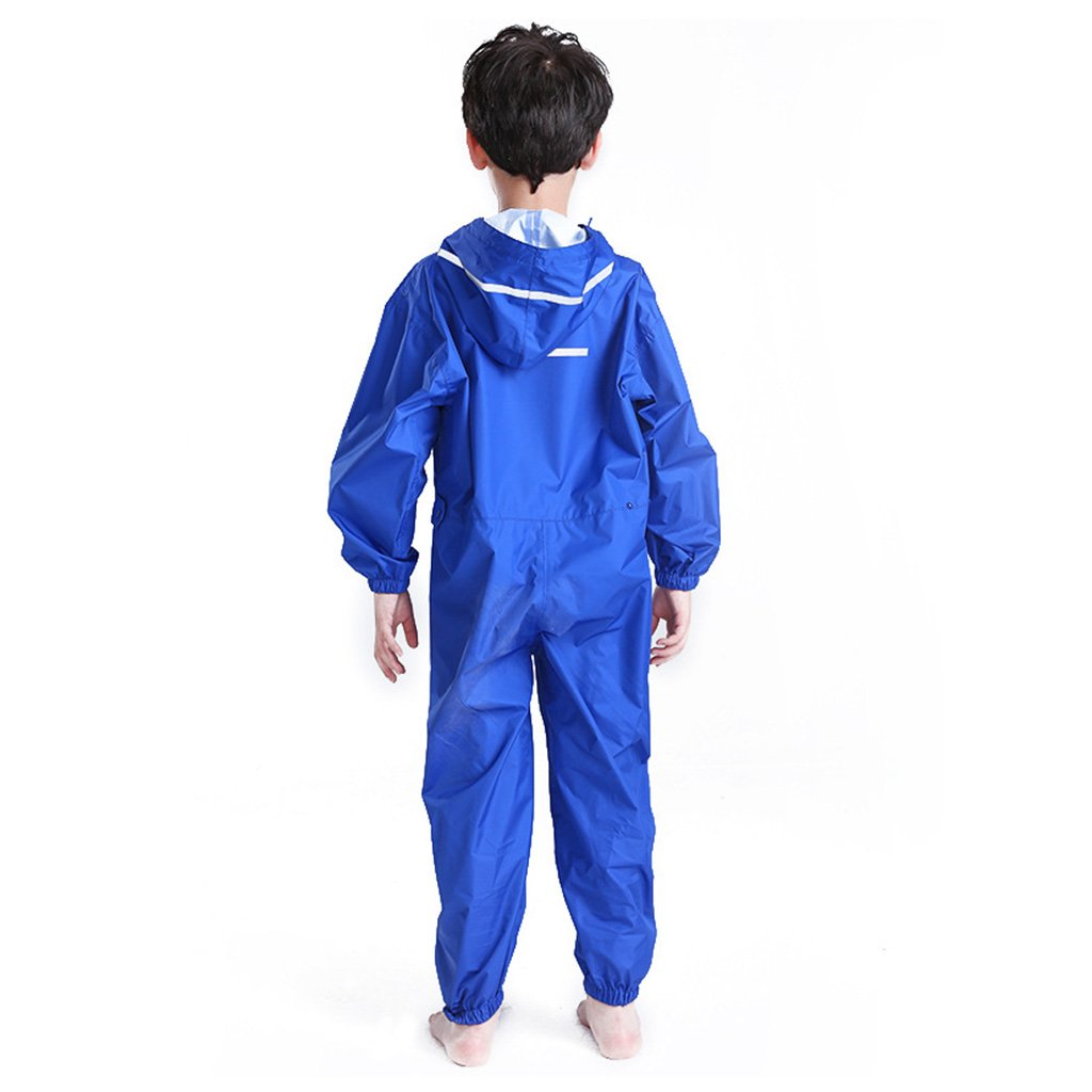 2-12 Years Vine Toddler Rain Suit Baby Rain Suit with Hood Waterproof Coverall One Piece Rain Suit Kids Muddy Buddy