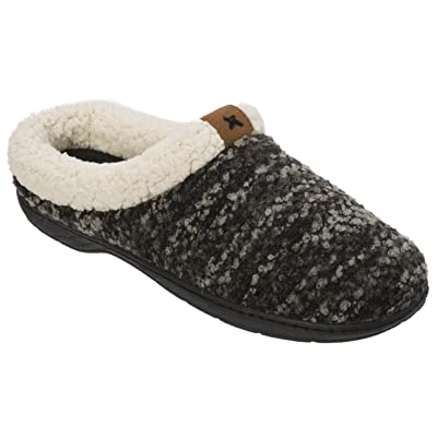 Dearfoams Women's Clog with Tab and Stitch Detail Memory Foam Slipper | Slippers