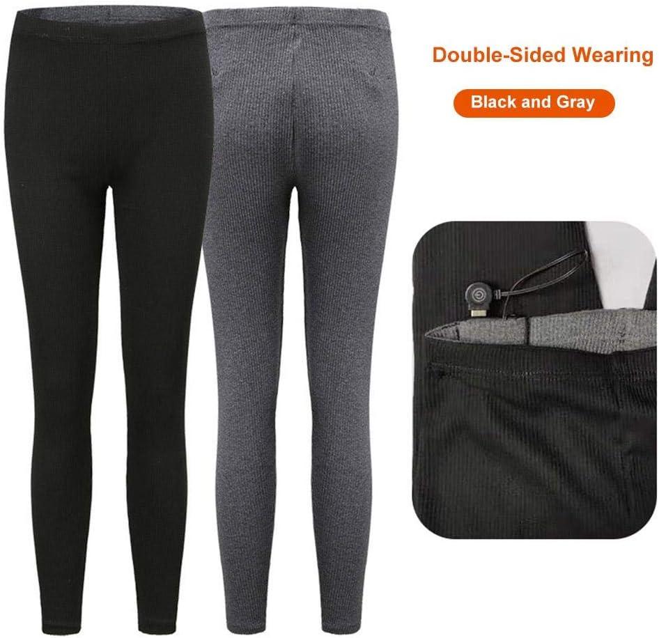 Pantalones calefactados el/éctricos USB para Mujeres Pantalones calefactables con Aislamiento Inteligente Recargables Leggings de Cintura Alta Pantalones Lavables Pantalones de Ropa Interior c/álida