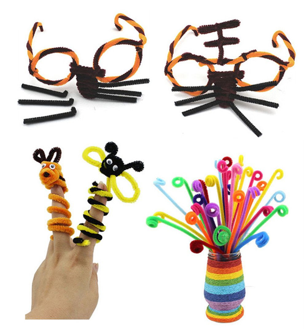 500pcs 10Colors Creative Pipe Cleaners 12 inches x 6 mm,Safe and Humanized Design Pipe Cleaners for DIY Art Craft