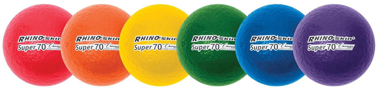 Champion Sports Rhino Skin Super High Bounce Dodgeballs RS64SET