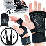 Titanium Peak L - Cross Training Gloves for Man & Woman - Sport Workout Gloves with Wrist Support for Gym - Weight Lifting Pull Up Hand Grips + Speed Jump Rope Fitness Workout by