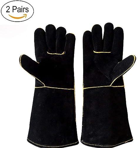 Men /& Women LOVIVER Leather Welder Gloves Heat /& Fire Resistant Gloves for Fireplace,Gardening,Cutting,Stove,Grill,BBQ,Pot Holder,Cooking,Animal Handling