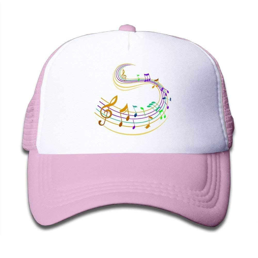 FEAIYEA Music Note Girls Fashion Adjustable Breathable Unconstructed PoloMesh Caps
