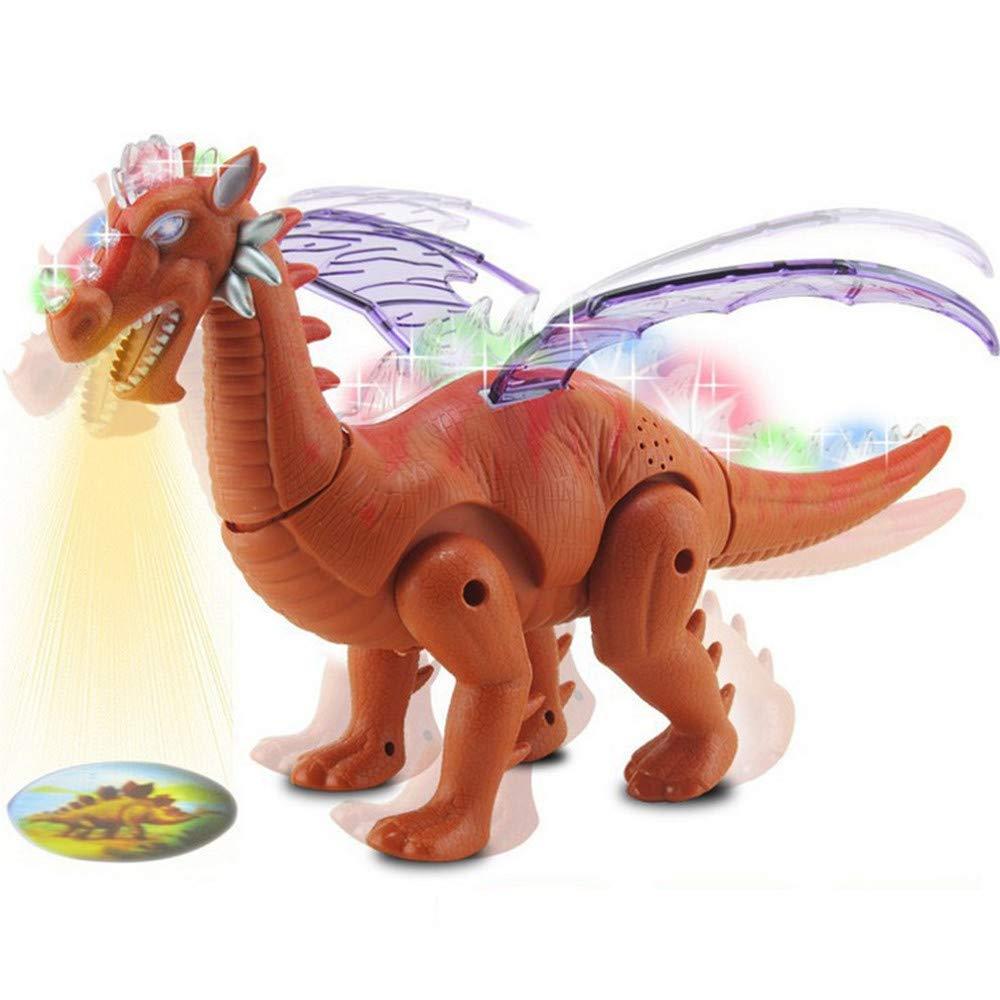 Euone Electric ティラノサウルス 子供用 おもちゃ ウォーキングプロジェクション 恐竜 おもちゃ フィギュア ライト&サウンド リアルムーブメント   B07KFTXDF6