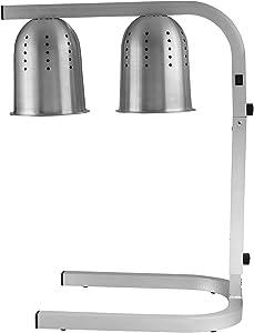 Winco EHL-2 Bulb Professional Free Standing Heat Lamp, Twin,Aluminum