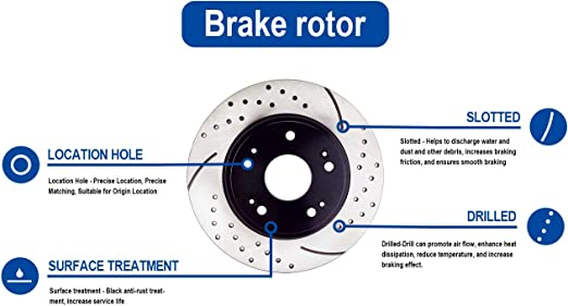 Transit Auto Front Rear Coated Disc Brake Rotors And Ceramic Pads Kit For 2009-2016 Toyota Venza KGT-101143