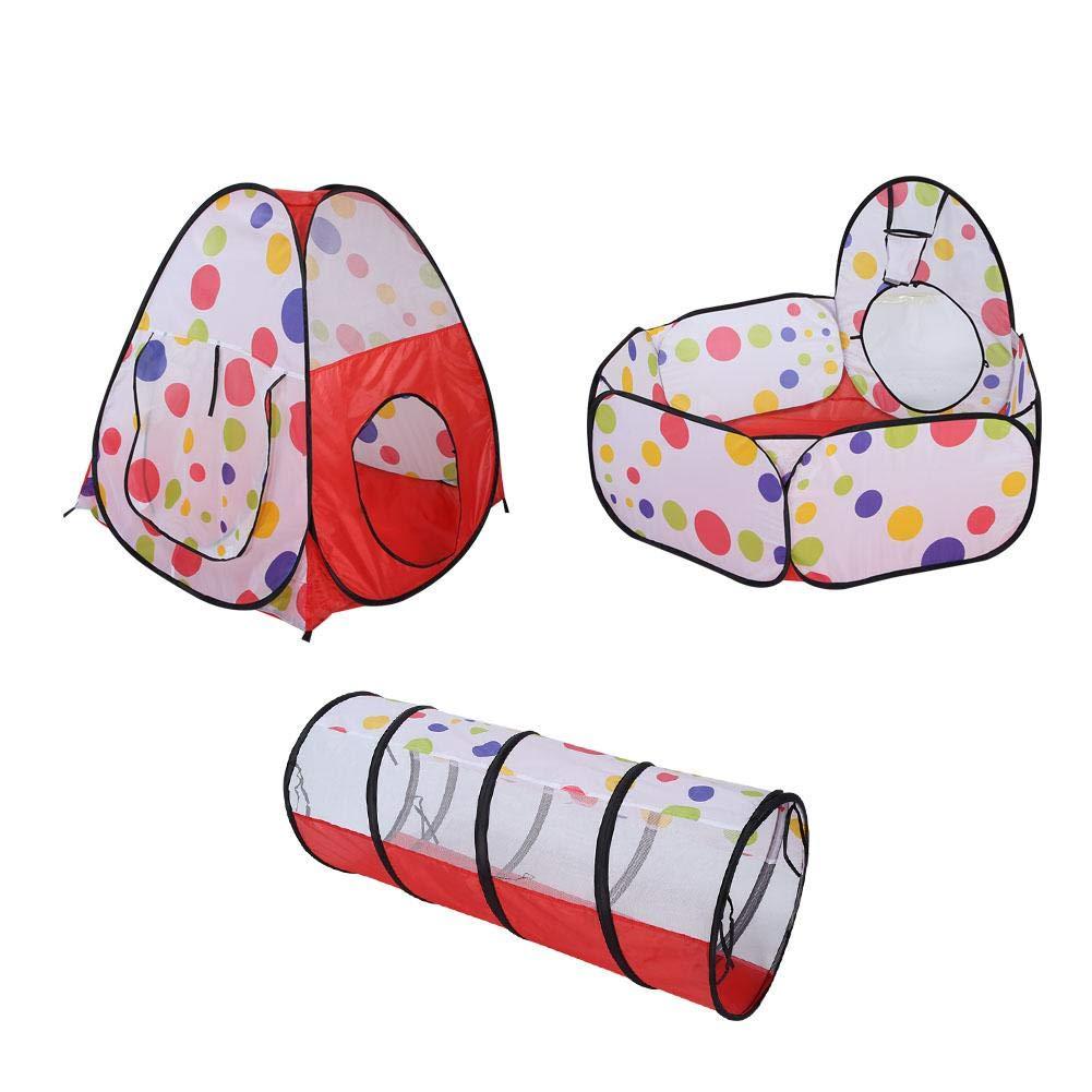Hztyyier Los ni/ños juegan en la Carpa con el t/únel de Arrastre y el Juego de Juego port/átil para ni/ños en la cancha de la Bola #3 con Canasta de aro para Actividades al Aire Libre en Interiores