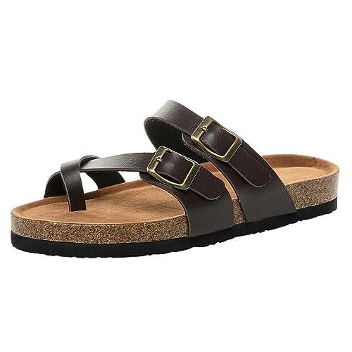Cinnamou Sandalias Planas 2018 con Dedos Separados Zapatos De Moda Chanclas De Playa Calzado Mujer Verano de Piel: Amazon.es: Zapatos y complementos