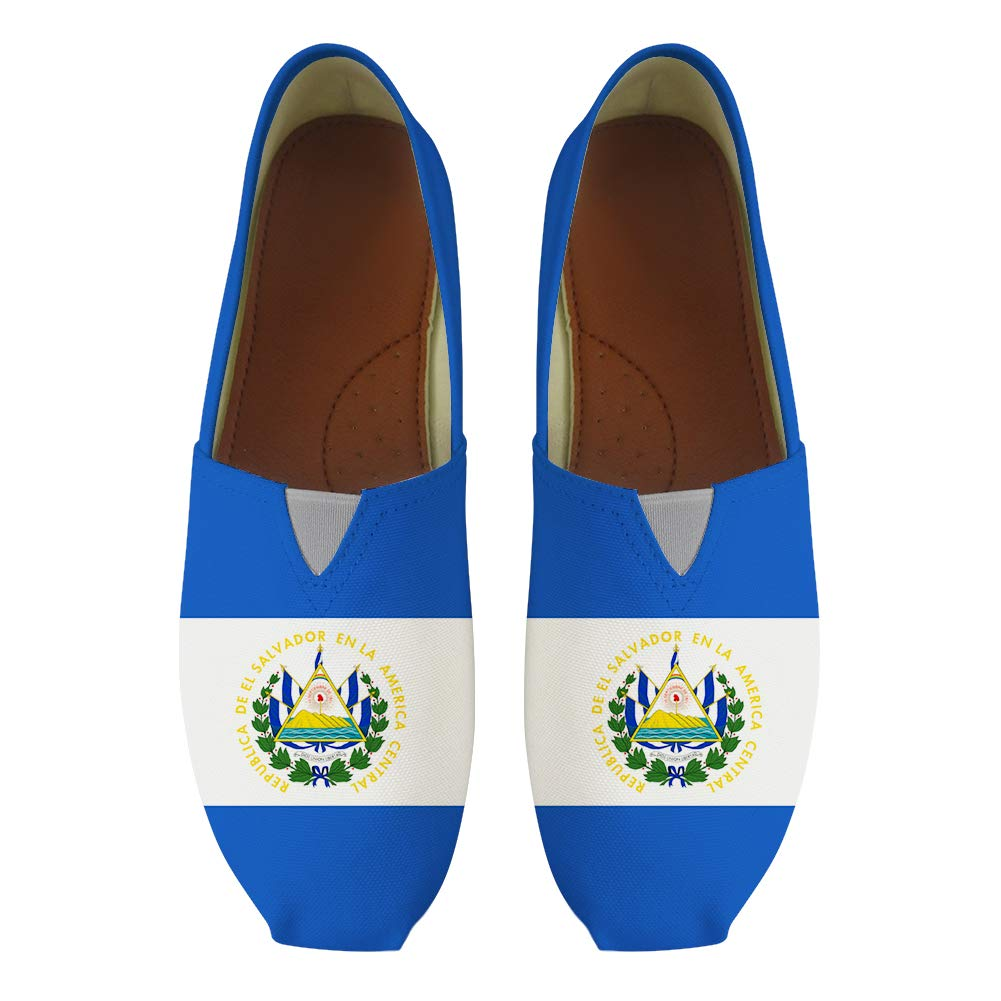 Classic Canvas Slip-On Lightweight Driving Shoes Soft Penny Loafers Men Women El Salvador Flag