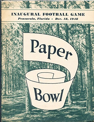 1948 12/18 Paper Bowl Football program jacksonville vs Troy from P&R publications