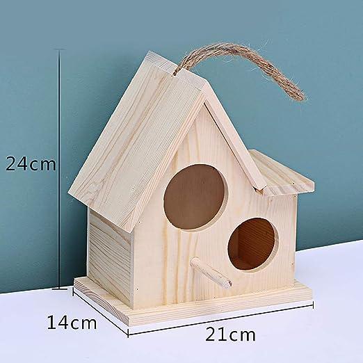 Tlwrnop Casas para Pájaros Nidos para Pájaros Casa De Pájaros De Madera Caja De Cría Nido