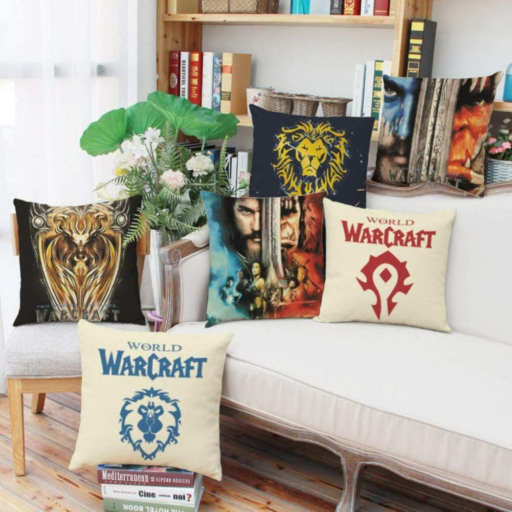 Red Magabee World of Warcraft Cushion Cover Without Cushions