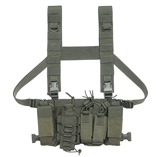Onewell Hombres Mujeres Tactical Chest Rig Bag Arnés de radio ...