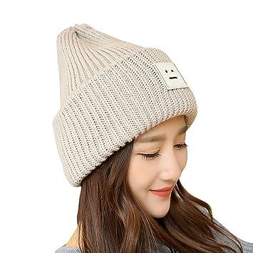 Frauen Winter warme gestrickte Mütze Hut, Qlan Mode weichen Stretch ...