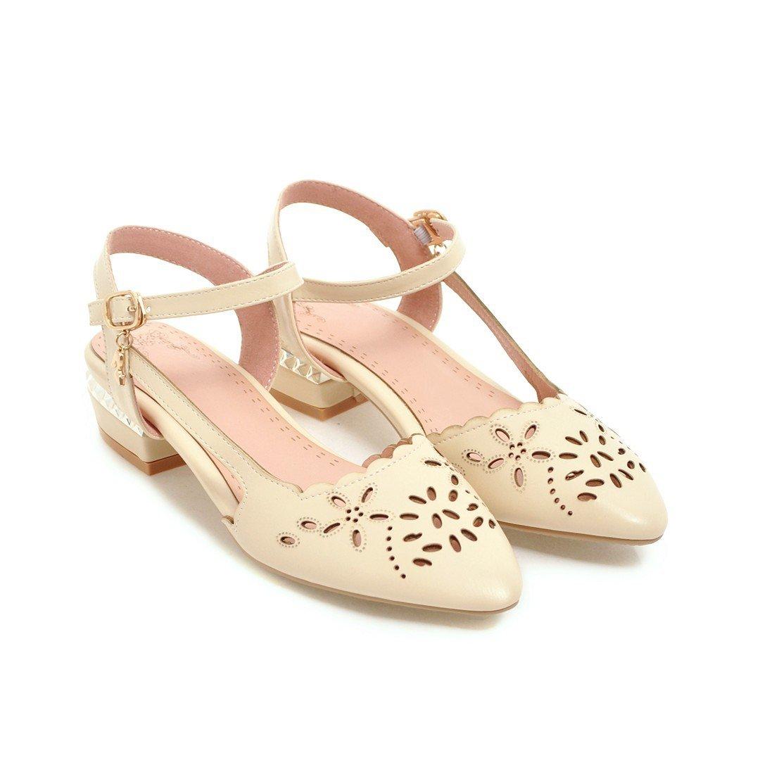 MEI&S Damen Apricot Schuhe Pumps Riemchen Sandalen Apricot Damen 7089ab