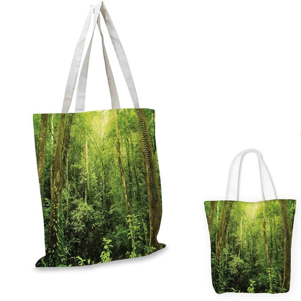 海外最新 RainforestSunbeam ジャングルテーマの木の影とアイドリックな風景を緑と白にしています。 14