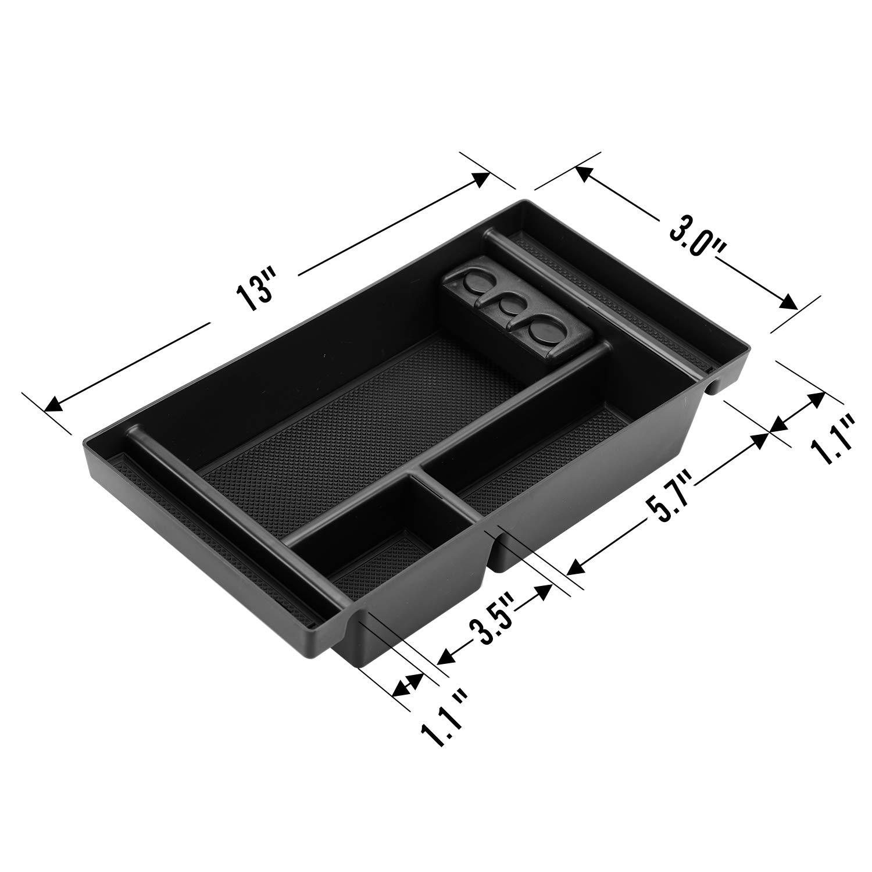 GMC Sierra 1500 Accessories ABS Tray Armrest Box Secondary Storage Center Console Organizer for 2019 Chevy Silverado 1500