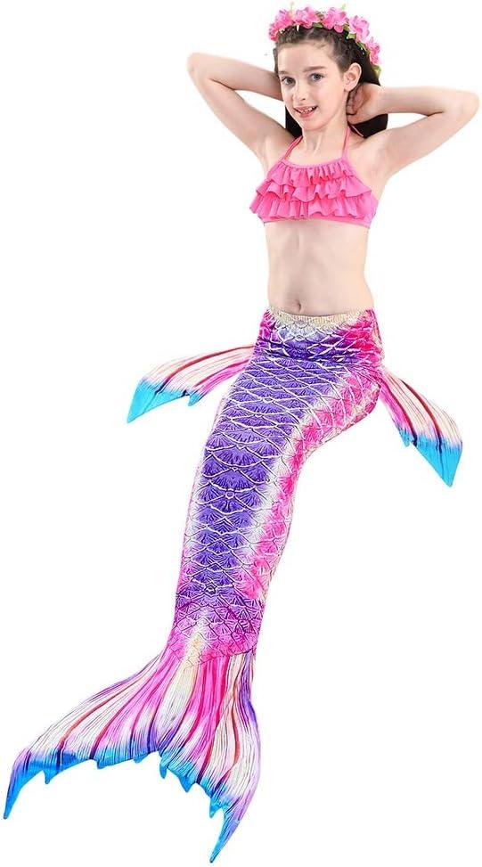 VGEBY1 3pcs Maillot de Bain Mer-Fille Enfants Costumes de Bain Queue de Sir/ène Filles Fishtail Costume Cosplay