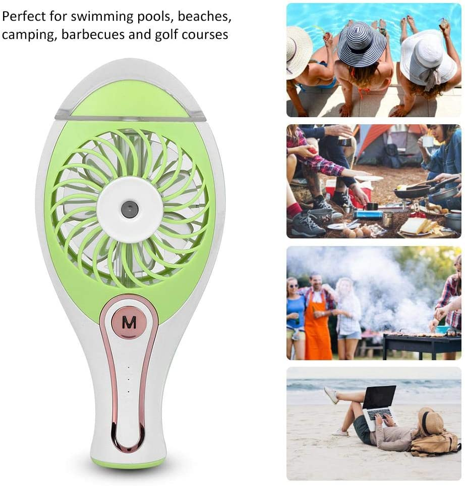 Alomejor1 Mini Ventilador humidificador Dormitorio de beb/é Humidificador silencioso Mini Ventilador port/átil Ventilador de Carga USB port/átil