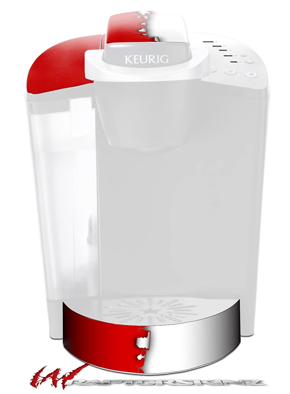 取り込んだ色レッドホワイト – デカールスタイルビニールスキンFits Keurig k40 Eliteコーヒーメーカー( Keurig Not Included )   B017AK2LL8