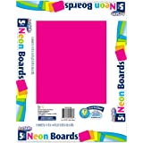 "ArtSkills Neon Poster Boards, Assorted Colors, 11"" x 14"", 5-Pack (PA-1507)"