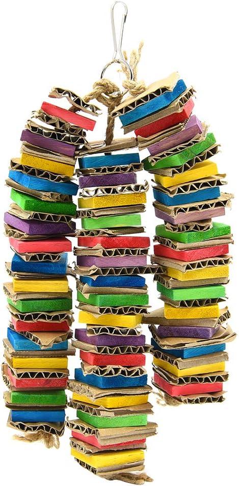 Juguete Colgante Masticable con Madera Natural para Jaula de P/ájaros Periquitos Loros 1 Piezas FurPaw Juguete para Pajaro