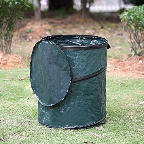 2 Piece Set Large 45 Gallon Reusable Pop Up Lawn & Garden Trash Bag by Wolfpack Intl