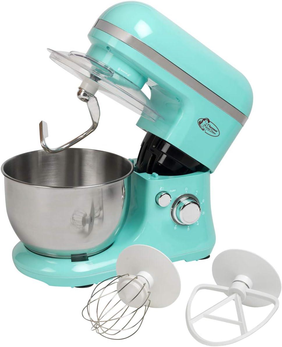 Bestron Robot de Cocina con Batidor, Gancho para Masa y Brazo ...