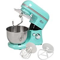 Bestron Küchenmaschine Rührmaschine Knetmaschine 1000 W 500 g Rosa/Mintgrün