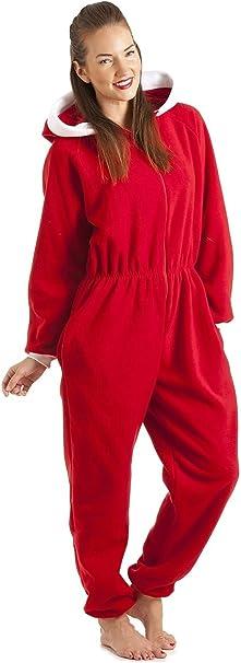 Camille - Pijama de una Pieza con Capucha para Mujer - Santa Claus