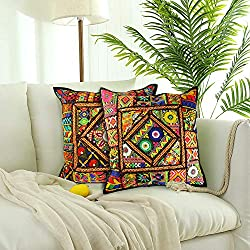Covers for Throw Pillow With Embroidery Sequins