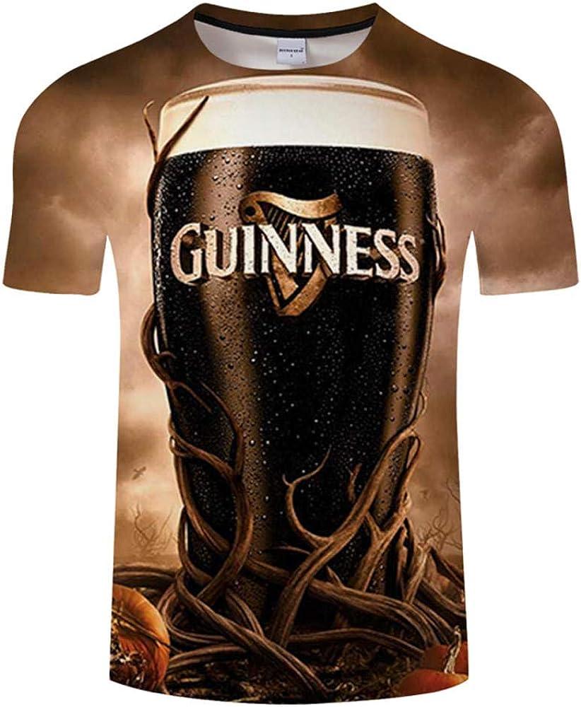 Camiseta 3D para Hombres Cerveza/Hamburguesa/Poker Hip Hop O Collar Manga Corta Hombres/Mujeres Camisetas Tops Tops Streatwear Camiset@Imagen A_4XL: Amazon.es: Ropa y accesorios