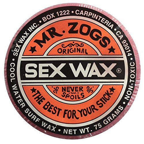 (Mr. Zogs Original Sexwax - Cool Water Temperature Strawberry Scented (Light Red Color))