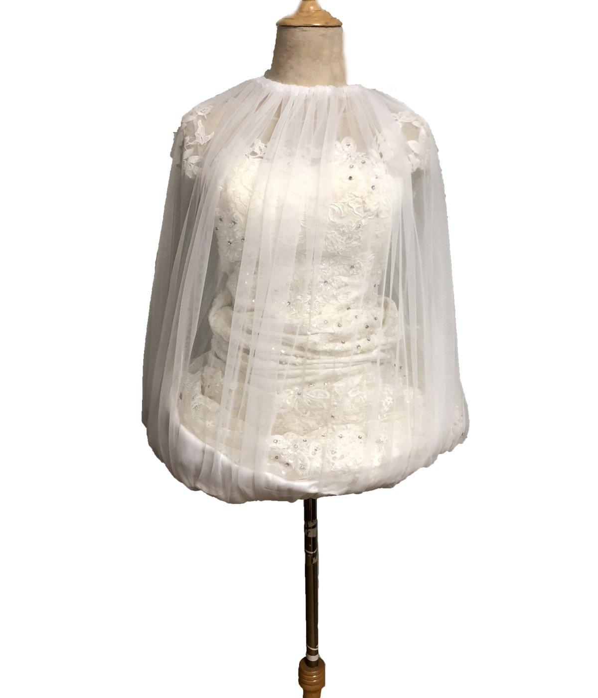 JQLD in Stock Bridal Petticoat Gather Skirt Slip Toilet Petticoat Save Wedding Dress from Toilet Water White M
