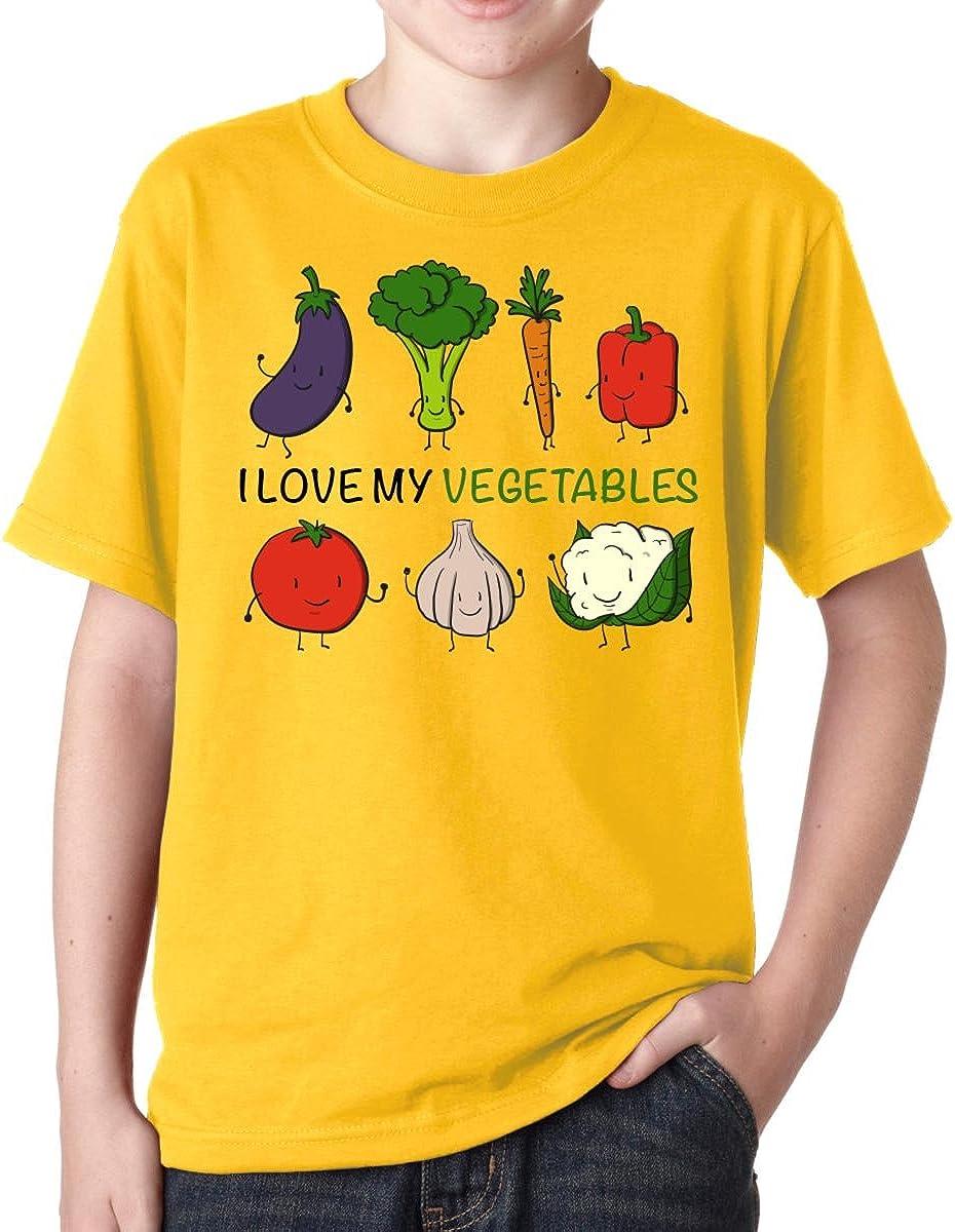 I Love My Vegetables Boys T-Shirt Youth Kids