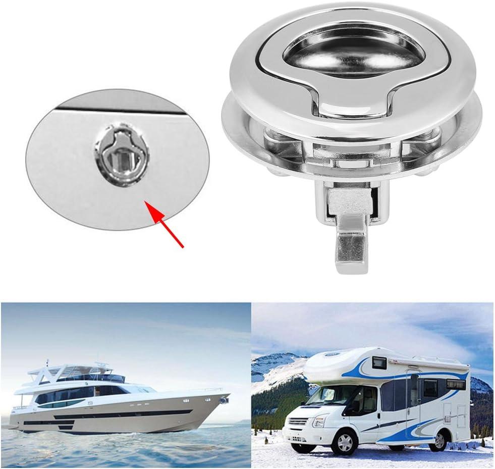 Broco Stainless Steel Flush Pull Hatch Latch Slam Latch for RV Marine Boat RV Flush Ring Pull Handle Hatch Locker Cabinet Handle