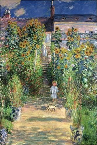 the artists garden at vetheuil claude monet sunflower blank lined journal great works of art notebooks