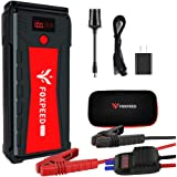 FOXPEED 2500A Car Battery Starter, 21000mAh Portable Auto Jump Starter( up to 8L Gas, 6.5L Diesel Engine), 12V Auto Battery B